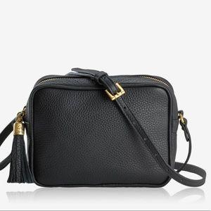 Gigi New York Black Leather Camera Bag